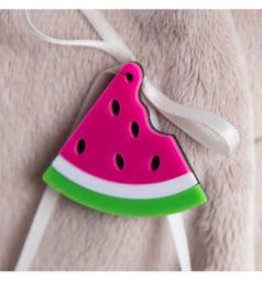 Мягкая игрушка Budi Basa Зайка Ми в вязаном платье Арбузик 22 см
