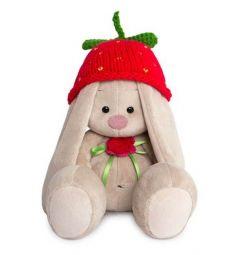 Мягкая игрушка Budi Basa Зайка Ми в вязаной шапке Клубничка 23 см