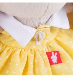 Мягкая игрушка Budi Basa Зайка Ми в желтом платье в горошек 15 см