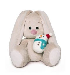 Мягкая игрушка Budi Basa Зайка Ми со снеговичком 15 см