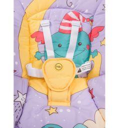 Кресло-качели Happy Baby Jolly V2, цвет: violet