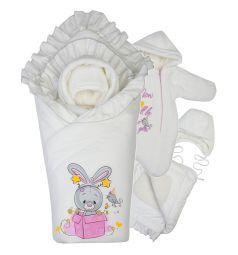 Комплект на выписку День рождения Babyglory, цвет: розовый/бежевый