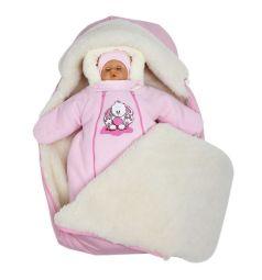 Комплект на выписку Непоседа Babyglory, цвет: розовый шапка/комбинезон/конверт