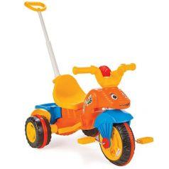 Трехколесный велосипед Pilsan Caterpillar с контролем, цвет: оранжевый
