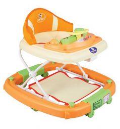 Ходунки-качалка Pilsan Rocking baby с музыкой, цвет: оранжевый/зеленый