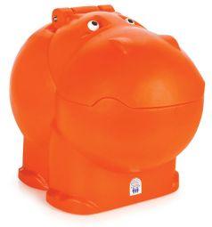 Ящик для игрушек Pilsan Hungry Hipo, цвет: оранжевый