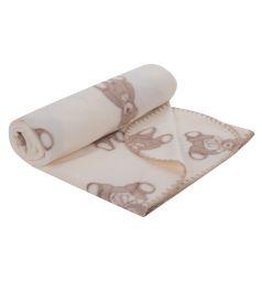 Плед Зайка Моя Мишка с бантиком 100 х 140 см, цвет: молочный