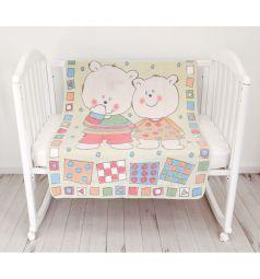 Baby Nice Одеяло Два медведя 100 х 140 см, цвет: желтый