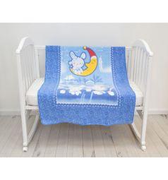 Baby Nice Одеяло Зайка на луне 100 х 140 см, цвет: голубой