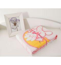 Baby Nice Одеяло Зайка на луне 100 х 140 см, цвет: розовый