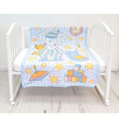 Baby Nice Одеяло Пора спать 100 х 140 см, цвет: голубой