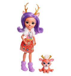 Кукла Enchantimals Danessa Deer с питомцем 15 см