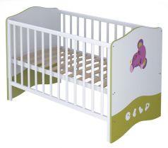 Кровать детская Polini kids Basic Elly, 140х70, бело-зеленая