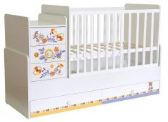 """Кровать детская Polini kids Simple 1100 """"Прогулка"""", белый"""