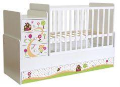 Кровать детская Polini kids Simple 1100 Пряничный домик, белая