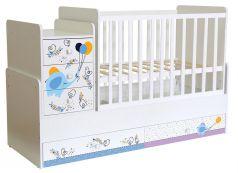 Кровать детская Polini kids Simple 1100 Слоник на шаре, белая