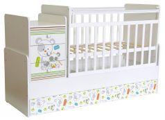 """Кровать детская """"Фея"""" 1100 Панды, белая"""