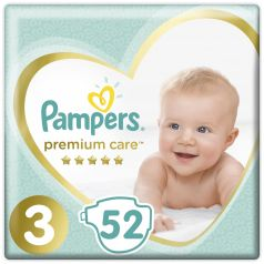 Подгузники Pampers Premium Care Midi (6-10 кг), 52шт.