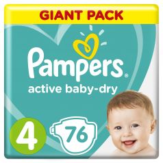 Подгузники Pampers Active Baby-Dry Maxi (9-14 кг), 76шт.