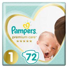 Подгузники Pampers Premium Care Newborn (2-5 кг), 72шт.