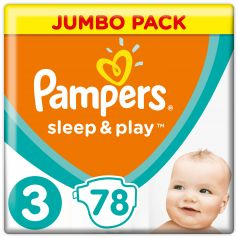 Подгузники Pampers Sleep & Play Midi (6-10 кг), 78шт.