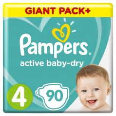 Подгузники Pampers Active Baby-Dry Maxi (9-14кг), 90шт.