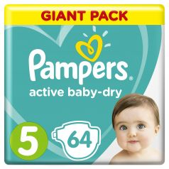 Подгузники Pampers Active Baby-Dry Junior (11-16кг), 64шт.