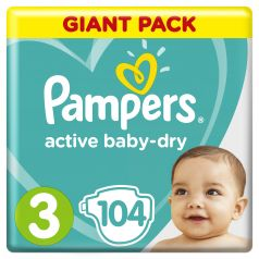 Подгузники Pampers Active Baby-Dry Midi 3 (6-10кг), 104шт.