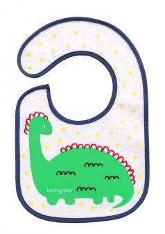 """Нагрудник BabyOno """"Динозавр"""" на липучке, 3+"""