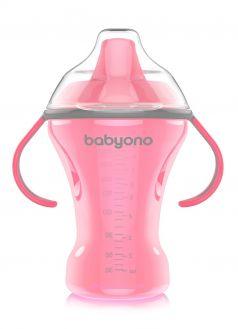 Кружка-непроливайка BabyOno с твердым носиком, 260мл