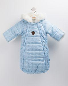 "Конверт Bembi ""Снежинка"" зимний, плащевка, голубой"