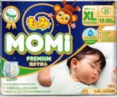 Подгузники-трусики Momi Premium Night XL (12-20кг), 22шт.