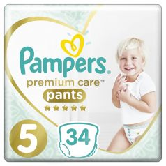 Подгузники-трусики Pampers Premium Care Pants Junior (12-17), 34шт.