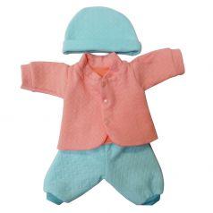 Одежда для куклы 38-43см Mary Poppins: костюм стеганый с шапочкой