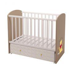 """Кроватка детская Polini Kids Disney baby 750 """"Медвежонок Винни и его друзья"""", белый-макиато"""