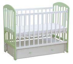 """Детская кровать """"Фея"""" 328, бело-зеленая"""