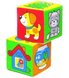 """Развивающие кубики Мякиши """"Чей домик?"""", 2шт."""