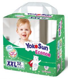 Подгузники-трусики YokoSun Econom XXL (15-25кг), 32шт.