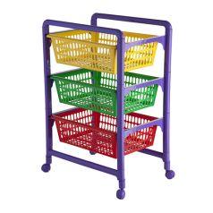 Контейнер для игрушек Полимербыт с выдвижными лотками, на колесах
