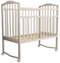 Детская кроватка-качалка Агат Золушка-1, слоновая кость