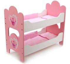 """Кроватка для кукол Mary Poppins """"Корона"""", двухъярусная"""