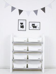 Стеллаж для игрушек Ifam DesignToy-1, серый