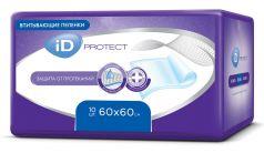 Пеленки iD Protect одноразовые для взрослых, 60х60, 10шт.