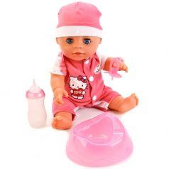 "Интерактивная кукла ""Карапуз"" Пупс Hello Kitty, 30см, с аксесуарами"