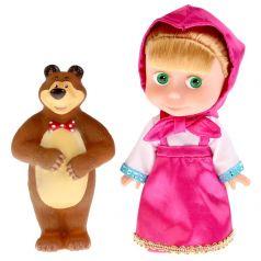 "Кукла ""Карапуз"" Маша с мишкой, 15см"