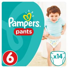Подгузники-трусики Pampers Pants Extra Large 6 (15+ кг), 14шт.