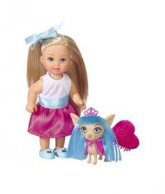 Набор Simba Evi: кукла Еви со стильной собачкой