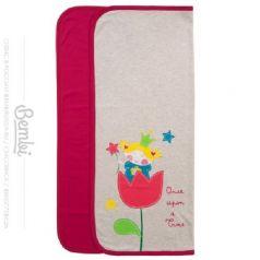 Конверт-одеяло Bembi малиновое, 90х90см