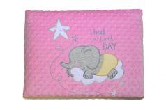 Конверт-одеяло Bembi фактурное, розовое, 90х90см