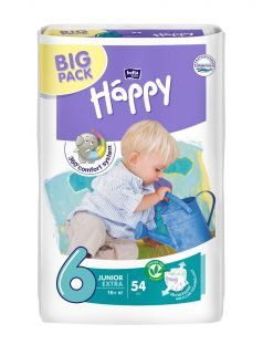 Подгузники Bella Baby Happy Junior Extra 6 (16+ кг), 54шт.